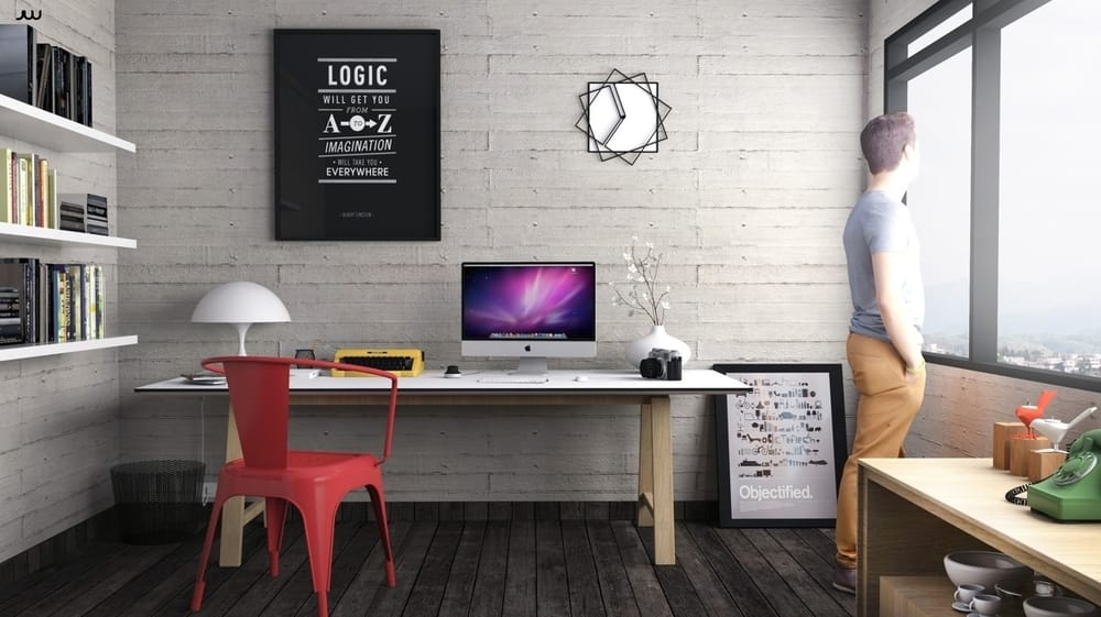 Clean Minimalist Desk