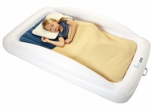 Hiccapop inflatable toddler poratble bed