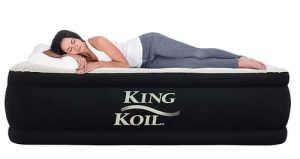 King koil luxury raised portable bed