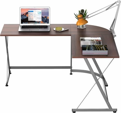 SHW L shaped work type desk