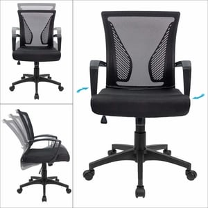 Furmax Mid Back Swivel Lumbar Support Desk Chair